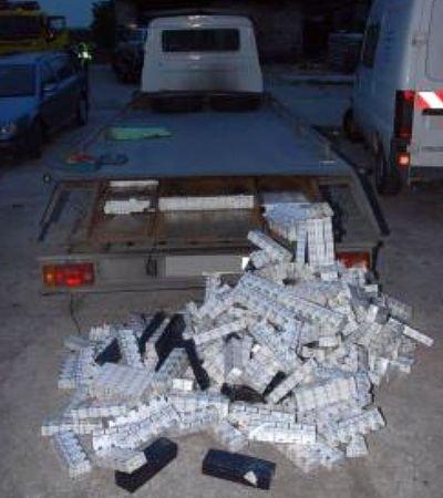 Łącznie funkcjonariusze zabezpieczyli ponad 23,5 tys. paczek papierosów