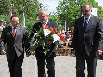Od lewej: Stanisław Chwojnicki, Karol Stasik i Cezary Przybylski