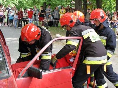 Duże zainteresowanie bolesławian wzbudziła pozorowana akcja ratownicza