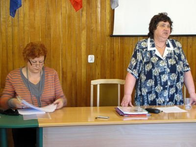Od lewej: Barbara Kostyra i Jadwiga Bobek