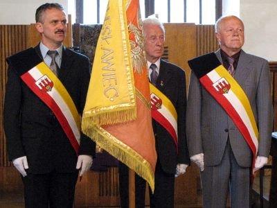 Radni Rady Miasta. Od lewej: Leszek Chudzik, Stanisław Andrusieczko i Eugeniusz Kowalski