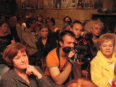 Publiczność na spotkaniu z Lydią Corbett