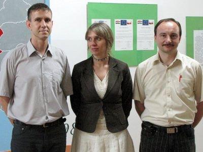 Od lewej: Marcin Ostrowski, Beata Sulska i Krzysztof Żuromski