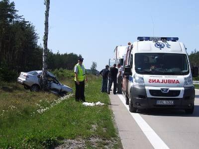 Mężczyzna jechał od strony Olszyny w kierunku Wrocławia