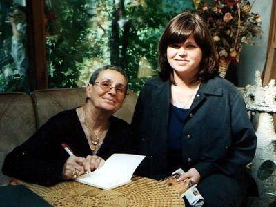 Kira Gałczyńska i Oksana Sawczuk, ukraińska nauczycielka prowadząca kurs języka polskiego w Bereznem koło Równego