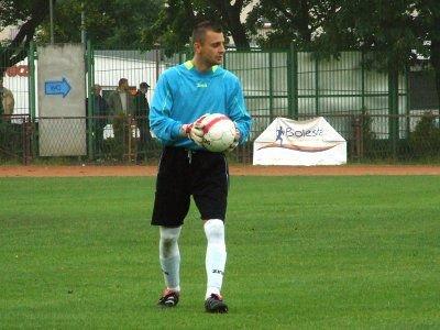 Bramkarz BKS Dawid Kizyma
