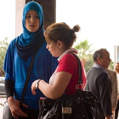 Dwie współczesne Marokanki w Casablance