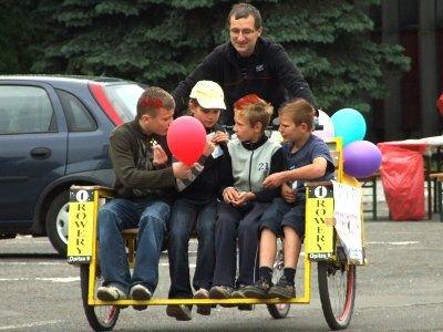 W czasie festiwalu można było skorzystać z przejażdżki rikszą