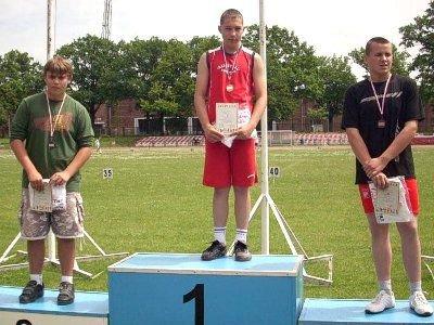 Dawid Kopała zajął pierwsze miejsce w pchnięciu kulą