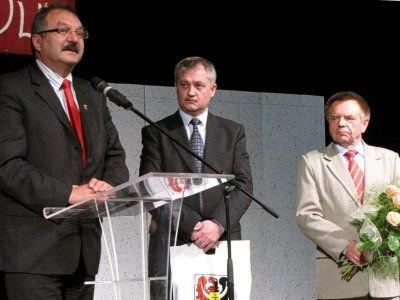 Od lewej: Cezary Przybylski, Dariusz Kwaśniewski, Stanisław Chwojnicki