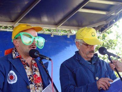 Kabaret Rama: Andrzej Miżdal (po lewej) i Ryszard Adam Gruchawka