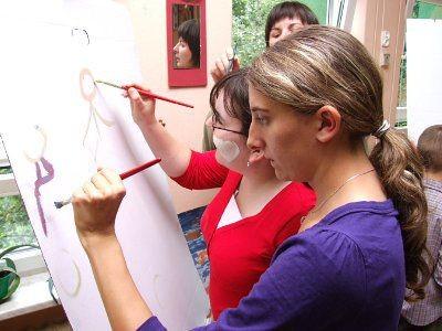 Podczas zajęć niepełnosprwane osoby mogą realizowac swoje hobby