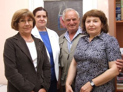 Barbara Jóźwik – wiceprzewodnicząca Koła, Genowefa Liszcz, Michał Wojdyła – przewodniczący i Elżbieta Ziembikiewicz