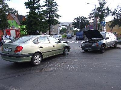Kierowca Opla nie ustąpił pierwszeństwa przejazdu kierowcy Toyoty