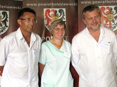 Od lewej: Marek Pudełko, Ewa Wizgird i Tomasz Michalski