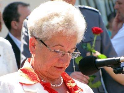 W ceremonii uczestniczyła też matka tragicznie zmarłego policjanta