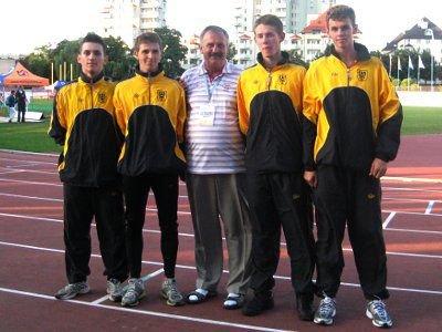 W sztafecie na 400 m lekkoatleci Bolesłavii uzyskali znakomity czas 3:24.49