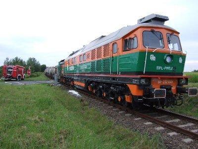 Do zdarzenia doszło na linii kolejowej prowadzącej do Zakładów Chemicznych Wizów