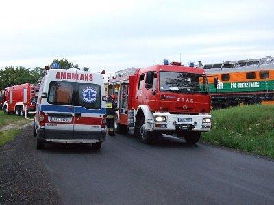 Ruch na trasie Bolesławiec-Kraśnik był zablkowany przez 2 godziny