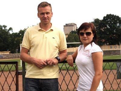 Bartosz Gruman i Justyna Serafińska nie kryją zadowolenia z faktu, że Lekkoatletyczny Orlik powstanie w Bolesławcu