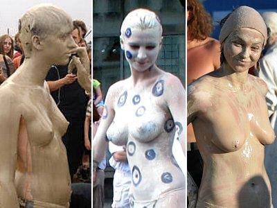 Na pierwszym zdjęciu uczestniczka Woodstock 2008, na drugim dziewczyna z Karnawału Kultur w Berlinie z 2008 roku, na trzecim uczestniczka Woodstock 2009