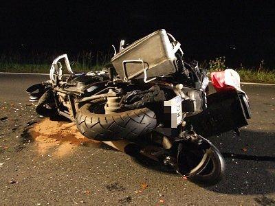 """Do zderzenia motocykla z autem doszło niedaleko """"zakrętu śmierci"""""""