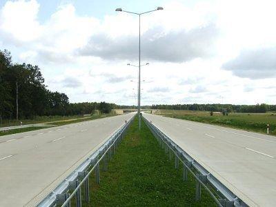 Autostrada A-4 na kilka minut przed puszczeniem ruchu