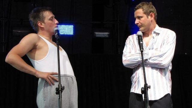 Kabaret Nowaki: Tomasz Marciniak (po lewej) i Kamil Piróg