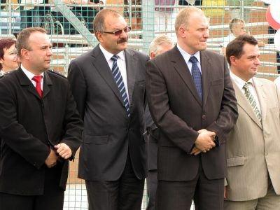 Od lewej: Jarosław Charłampowicz, Cezary Przybylski, Rafał Jurkowlaniec, Jarosław Molenda