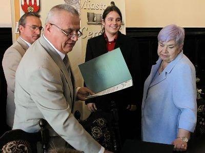 Mateusz Opar otrzymał stypendium wójta Gminy Bolesławiec