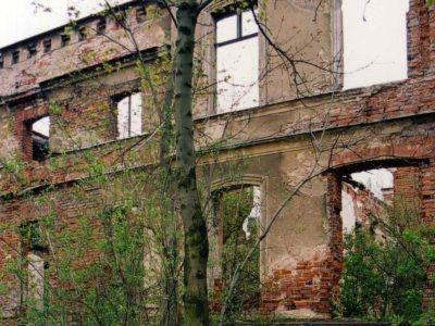Mietków, fragment fasady w 2002 r.