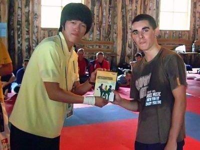 Z Koreańczykiem z Peace Corp, Korpusu Pokoju Taekwondo