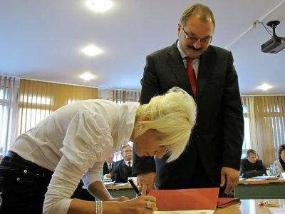 Ślubowanie zostało potwierdzone podpisem