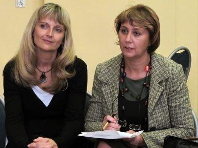 W piątkowym spotkaniu uczestniczyły m.in. nauczycielki Agata Kozicka (po lewej) i Małgorzata Naglik