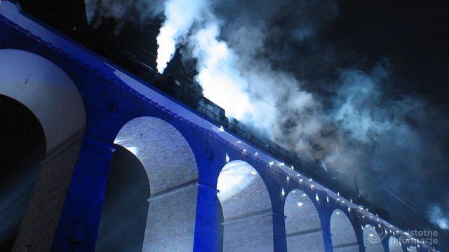 Jedną z atrakcji był przejazd pociągu retro