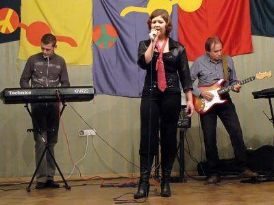 Od lewej: Wojciech Tobiasz, Katarzyna Tobiasz i Cezary Byrski