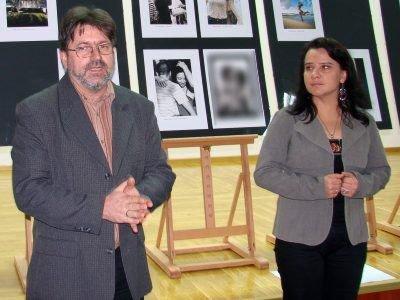 Jerzy Paluszczyszyn (juror) i Beata Widera (pomysłodawczyni konkursu)