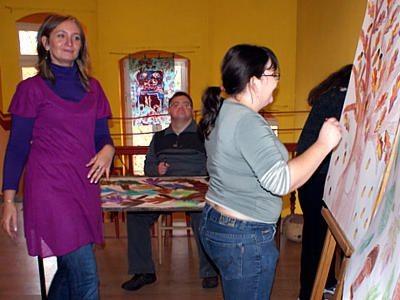 Uczestnicy zajęć w Młodzieżowym Domu Kultury