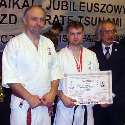 Od lewej soke Ryszard Murat 10. DAN Karate Tsunami, meijin Sławomir Graff 3. DAN Karate Tsunami, mistrz Nguyen Ngoc Noi 10. dan ze stylu Vinh Xuan kung fu z Hanoi w Wietnamie