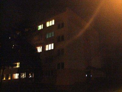 Ogień wybuchł w mieszkaniu na na drugim piętrze