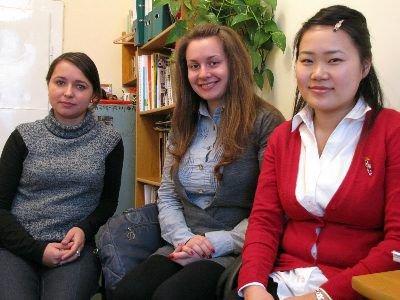 Od lewej: Magdalena Zeszutek, Anna Pokorska i Marifu Kosuge