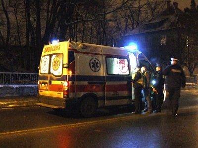 Ranny mężczyzna został odwieziony do szpitala