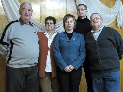 Od lewej: Kazimierz Sutryk, Ewa Sutryk, Katarzyna Bojanowska, Marek Markiton i Zygmunt Myśliwiec