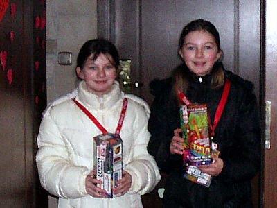 Natalia i Sandra Glinieckie, najmłodsze wolontariuszki