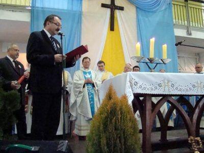 Spotkanie otworzył starosta Cezary Przybylski
