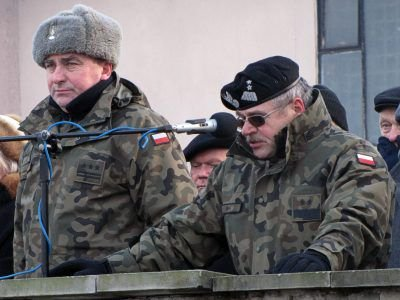 Od lewej: płk Roman Kłosiński i gen. Tadeusz Buk