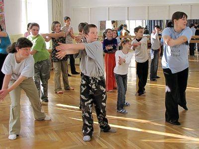 Zajęcia taneczne poprowadziła Anna Leśniewska