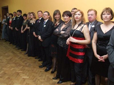 Uczestnicy balu Piłkarski Śledzik 2010