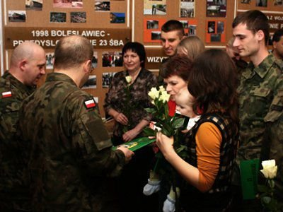 Dowódca 23 ŚBA podziękował także rodzinom żołnierzy