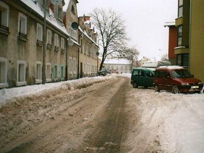 Fragment ulicy Mazoweickiej, którą odśnieżał pan Alfred
